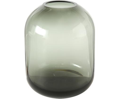 Glas-Vase Fatima, Glas, gefärbt, Grau, Ø 11 x H 15 cm