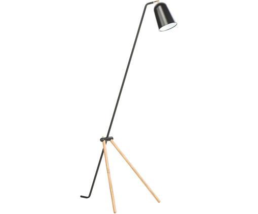 Lampa podłogowa Giraffe, Drewno dębowe, czarny