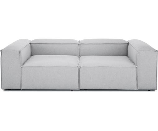 Canapé modulable dossier bas Lennon (3places), Tissu gris clair