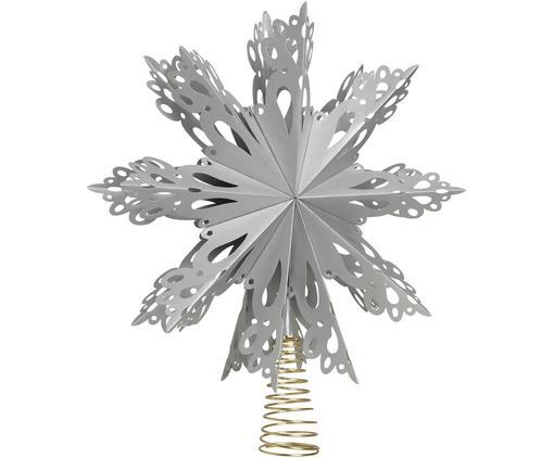Baumspitze Christmas Star, Papier, Metall, Grau, Goldfarben, Ø 30 cm