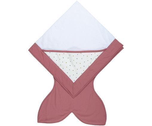 Serviette de bain pour bébé Tail, Rose, blanc