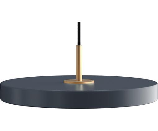 Design LED Pendelleuchte Asteria, Lampenschirm: Aluminium, lackiert, Anthrazit, Ø 31 x H 14 cm