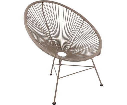 Sillón Bahia, Asiento: plástico, Estructura: metal, pintado en polvo, Plástico: gris pardo Estructura: gris pardo, An 81 x F 73 cm