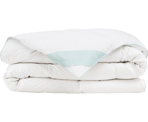 Daunen-Bettdecke Comfort, mittel, Hülle: 100% Baumwolle, feine Mak, Weiß, 155 x 220 cm