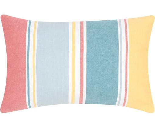 Bunt gestreifte Kissenhülle Linea, 100% Baumwolle, Mehrfarbig, 30 x 50 cm