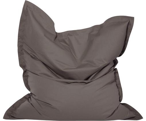 Poltrona sacco grande Meadow, Rivestimento: poliestere, rivestimento , Antracite, Larg. 130 x Alt. 160 cm