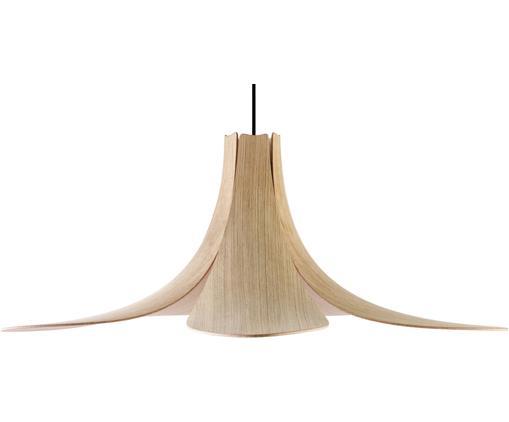 Lampa wisząca Jazz, Drewno dębowe, czarny, Ø 65 x W 24 cm