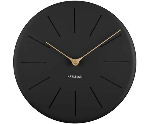Zegar ścienny Sola, Czarny, odcienie mosiądzu, Ø 25 x G 4 cm