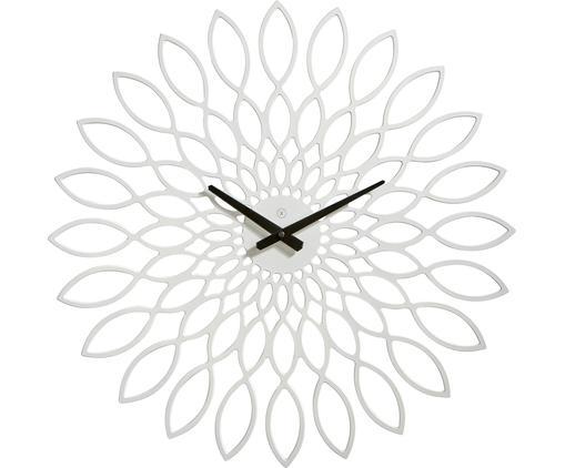 Orologio da parete Oslo, Legno rivestito, Bianco, nero, Ø 60 cm