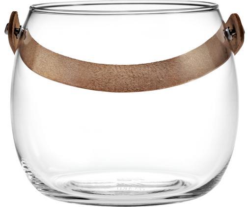Świecznik Chamber, Transparentny, brązowy, Ø 16 x W 12 cm