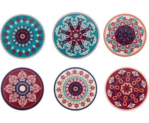 Komplet podstawek Shiraz, 6 elem., Wielobarwny, korek, Ø 10 cm