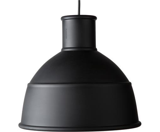 Pendelleuchte Unfold im Industrial-Style, Silikon, Schwarz, Ø 33 x H 30 cm