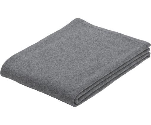 Pled z kaszmiru Laura, 100% kaszmir Kaszmir to bardzo miękka, wygodna i ciepła tkanina, Ciemnyszary, S 130 x D 170 cm