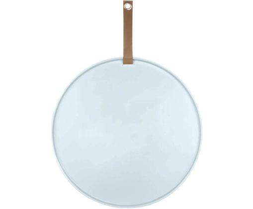 Pinnwand Perky, Metall, lackiert, Hellblau, Braun, Ø 50 x T 1 cm