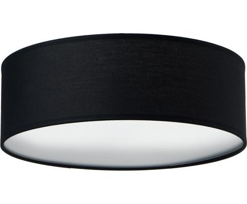 Lampa sufitowa Mika, Czarny, Ø 30 x W 10 cm