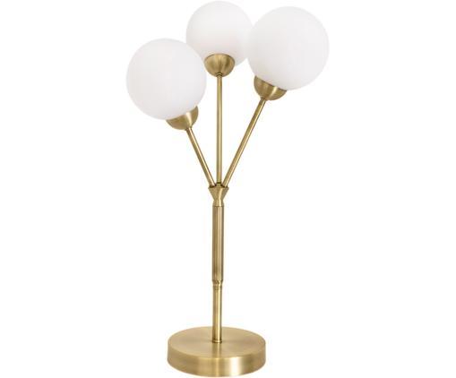 Tischleuchte Twiggy, Messing, Lampenfuß: Messing, Weiß, Messing, Ø 25 x H 60 cm