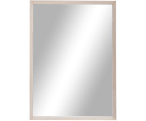 Specchio da parete con cornice in legno Oak, Superficie dello specchio: lastra di vetro, Cornice: legno di quercia, Legno di quercia, bianco latteo, Larg. 50 x Alt. 70 cm