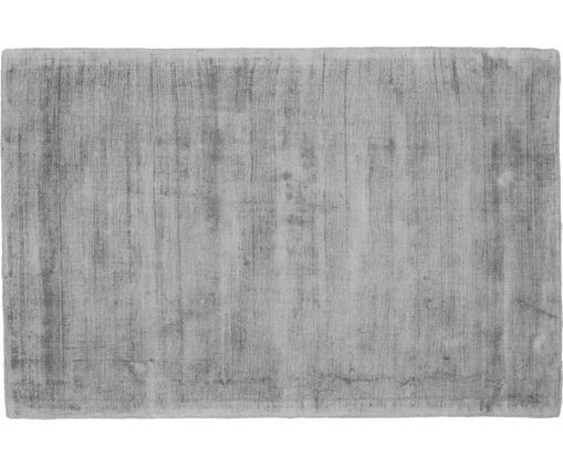 Tappeto in viscosa tessuto a mano Jane, Retro: 100% cotone, Grigio, Larg. 120 x Lung. 180 cm (taglia S)