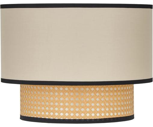 Plafondlamp Vienna, Baldakijn: gepoedercoat metaal, Lampenkap: katoenmix, kunststof, Beige, zwart, crèmekleurig, Ø 40 x H 30 cm