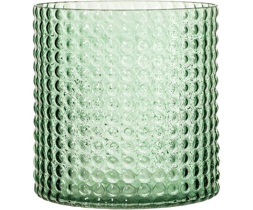 Vaso Liv, Vetro, Verde, leggermente trasparente, Ø 16 x A 17 cm