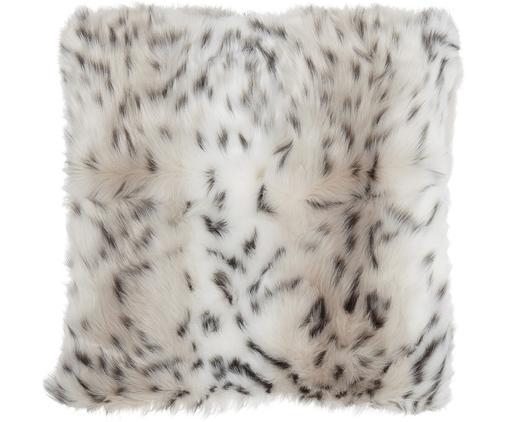 Federa in ecopelliccia Aleya, Retro: 100% poliestere, Marrone chiaro, Larg. 45 x Lung. 45 cm