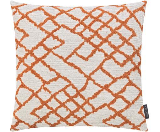 Housse de coussin 50x50 Malina, Beige clair, couleur rouille