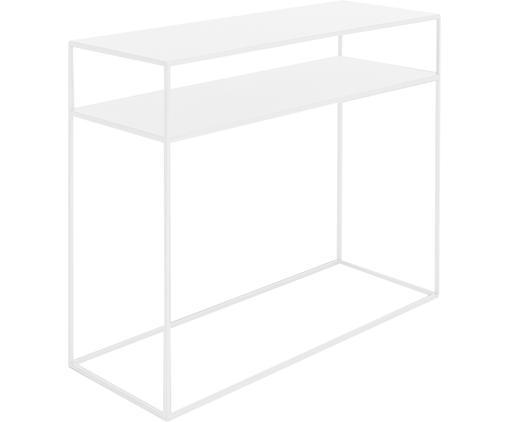 Consolle in metallo bianco Tensio Duo, Metallo verniciato a polvere, Bianco, Larg. 100 x Prof. 35 cm
