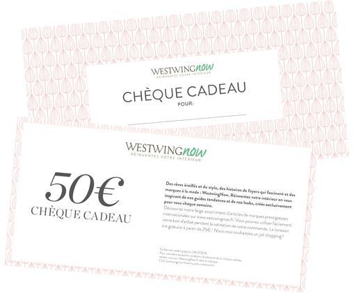 Chèque cadeau 50€, Blanc