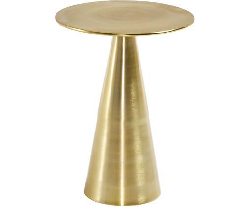 Tavolino rotondo dorato Rhet, Metallo, zincato, Ottonato, Ø 39 x Alt. 50 cm