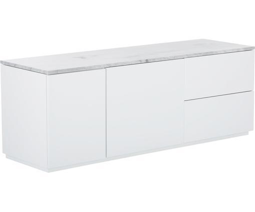 Credenza con piano in marmo Join, Mensola: marmo, Bianco, Larg. 160 x Alt. 59 cm