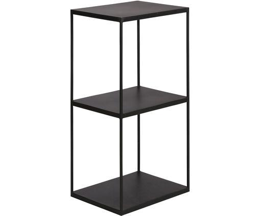 Schwarzes Standregal Expo aus Metall, Metall, beschichtet, Schwarz, 43 x 86 cm