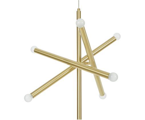 Pendelleuchte Sticks, Baldachin: Metall, gebürstet, Vermessingt, B 60 cm