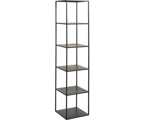 Libreria in metallo nero Angle, Metallo verniciato a polvere, Nero, Larg. 40 x Alt. 180 cm