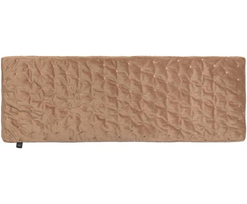 Bankauflage Velvet, Kamelbraun, 40 x 120 cm
