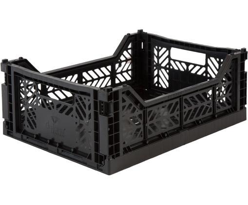 Caisse de rangement Black, empilable, taille moyenne, Noir