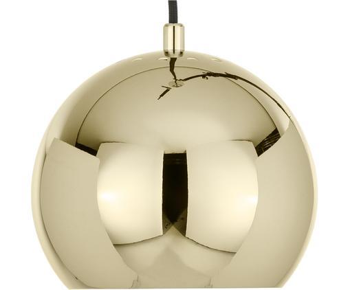 Kleine Kugel-Pendelleuchte Ball, Metall, beschichtet, Messingfarben, Ø 18 x H 16 cm