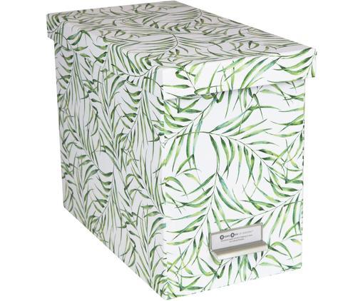 Hängeregister-Box Johan, 9-tlg., Organizer: Fester, laminierter Karto, Weiß, Grün, 19 x 27 cm