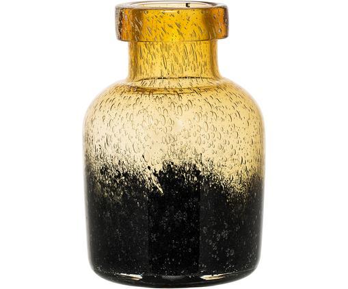 Vase Ebru, Glas, Bernsteinfarben, Dunkelgrau, Ø 14 x H 20 cm