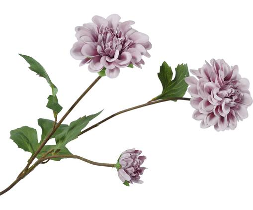 Kunstblume Dahlie Delia, Blüte: Kunststoff, Stiel: Metall, Mauve, L 56 cm