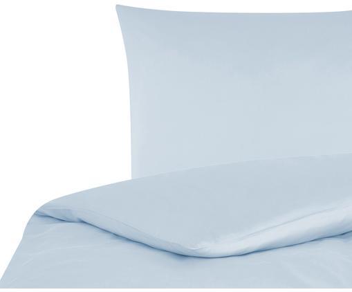 Baumwollsatin-Bettwäsche Comfort in Hellblau, Hellblau, 135 x 200 cm