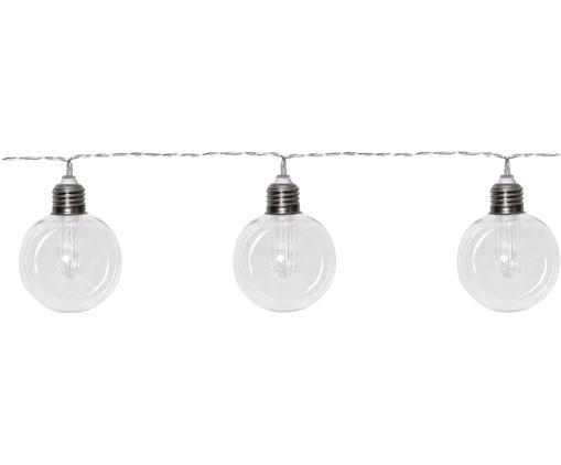 Solarna girlanda świetlna LED Chania, Tworzywo sztuczne, Transparentny, odcienie srebrnego, D 245 cm