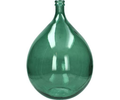 Vase à poser au sol en verre recyclé Drop, Vert
