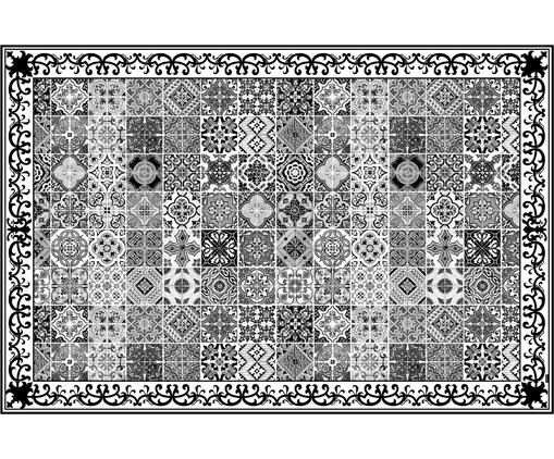 Alfombra vinílica Olè, Vinilo, reciclable, Negro, blanco, gris, An 136 x L 203 cm