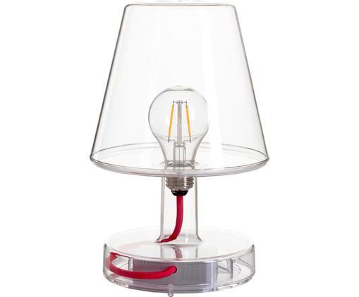 Mobile LED Außentischleuchte Transloetje, Kunststoff, Transparent, Ø 17 x H 27 cm
