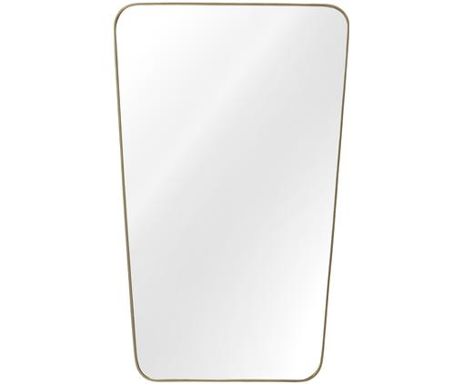 Specchio da parete Adrienne, Cornice: metallo, ottonato, Superficie dello specchio: lastra di vetro, Retro: pannello di fibra a media, Ottone, Larg. 50 x Alt. 80 cm