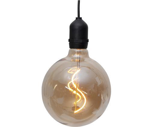 Lampa zewnętrzna LED Bowl, Szkło, tworzywo sztuczne, Odcienie bursztynowego, transparentny, czarny, Ø 13 x W 18 cm