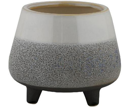 Übertopf Volcanic, Keramik, Grau, Ø 18 x H 15 cm