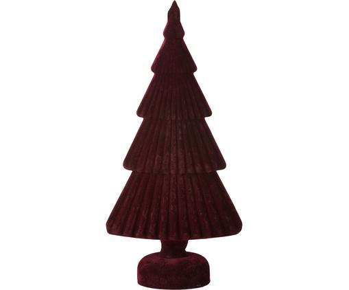 Oggetto decorativo Velvie Christmas Tree, Rivestimento: poliestere, Rosso scuro, Larg. 15 x Alt. 31 cm