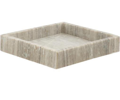 Marmor-Tablett Porter, Marmor, Taupe, B 26 x T 26 cm