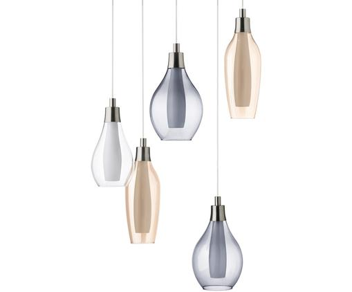 Lampada a sospensione a LED Pontevedra Five, Paralume: vetro, Multicolore, Ø 35 x Alt. 30 cm